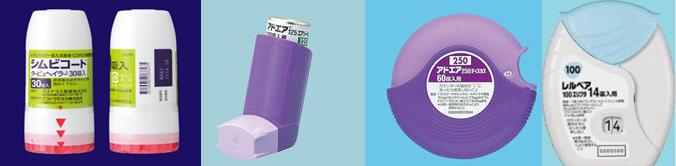 ステロイド薬と気管支拡張薬が一体になった吸入器
