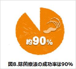 除菌療法の成功率は90%