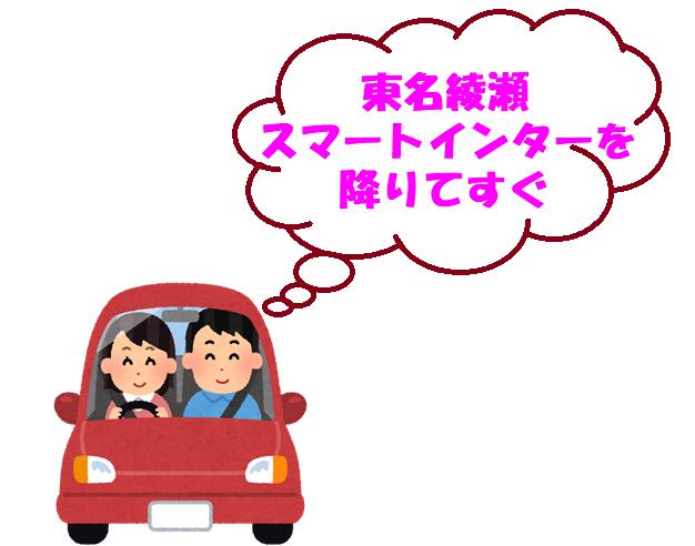 東名綾瀬スマートインターを降りてすぐ